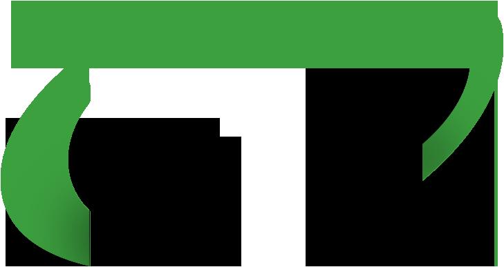 zielony element banneru